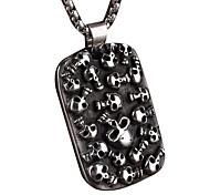 Stahlskelett Mann-Tag Halskette Persönlichkeit
