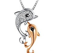 Dolphins Fashion Pendant Necklace
