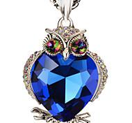 свитер цепи волшебные камни золото 18k / платина покрыли милые ожерелья сыча& подвески ювелирные изделия p30155 подарок заявление