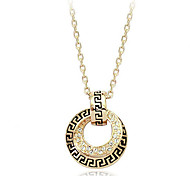 Z&X® Alloy Retro Full Diamond Crystal Necklace