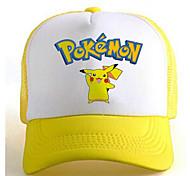 Pocket Little Monster Cute Pikachu Yellow-White Adjustable Tennis Cap