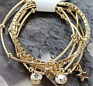 Korean version of the five sets of diamond bracelet multi-female star temperament