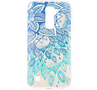 Green Blue Pattern TPU Soft Case Phone Case for LG Series Model