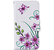 Pink Butterfly Pattern Card Phone Holster for LG K7/K8/K10