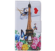 Eiffel Tower Pattern PU Leather Full Body Case with Stand and Card Slot for Samsung Galaxy S6 Active