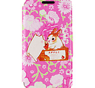 Kinston® Rabbit and Pig Pattern PU Leather Case For iPhone 7 7 Plus 6s 6 Plus SE 5s 5c 5 4s 4