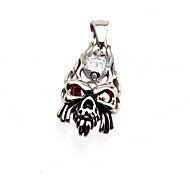 316L Stainless Steel Pendant Red Skull