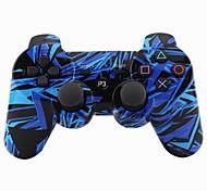 palanca de mando sin hilos del bluetooth sixaxis dualshock3 gamepad controlador recargable para Sony PS3 (multicolor)