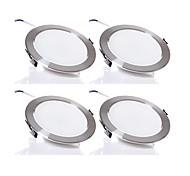 5W Downlight de LED 480 lm Branco Quente / Branco Frio SMD 5730 Regulável AC 220-240 V 4 Pças.