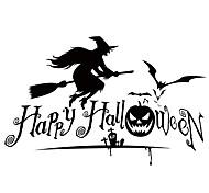aw9427 Halloween Shop Glass Window Stickers Wall Stickers Halloween   Home Decor Witch Stickers