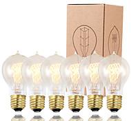 GMY 6pcs A19 Edison lampadina epoca lampadina da 60W E26 / E27 decorare lampadina
