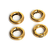 Beadia 5Pcs Metal Spring Clasp Findings 16mm Keyring Jewelry Connectors (9mm Hole Size)
