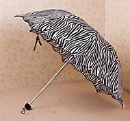 Gris Ombrelle pliable Ensoleillé et Rainy Textile Voyage / Lady / Hommes