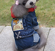 Dog Denim Jacket/Jeans Jacket Blue Winter / Summer / Spring/Fall Solid Casual/Daily Dog Clothes / Dog Clothing-Other