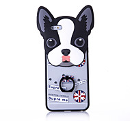 Ring Holder / Frosted / Embossed / Pattern Cute Dog02 PC Hard Ring Holder Case Cover For iPhone 6/6s/6plus/6s plus