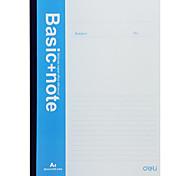 Deli Soft Manuscripts Notebook A4 Wireless Office
