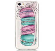 TPU Material + IMD Technology Macaron Pattern Painted Relief Phone Case for iPhone 6s Plus / 6 Plus/SE / 5s / 5/5C