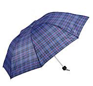 Черный Складные зонты Солнечный и дождливой Металл Lady / Мужчины