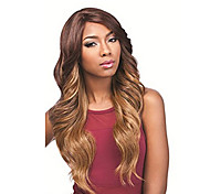 Top Quality Long Body Wave Ombre Brown Lady's Synthetic Wig Club Wigs