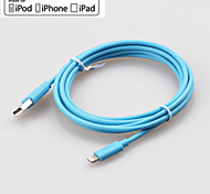 yellowknife® IMF manzana rayo de sincronización de 8 pines y cable redondo cargador USB para iphone7 6s 6 Plus SE 5s 5 / ipad (200 cm)