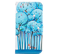 for Samsung Galaxy A3 A5 2017 Blue Tree Leather Wallet for Samsung Galaxy A5 A7 A3 A5 A7 2016 2017