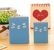 Cute Smile Series Portable Coil Loose-leaf Notebook (Small Size Random Colors)