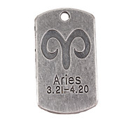 10pcs New Alloy Parts Twelve Constellation Aries Square Accessories