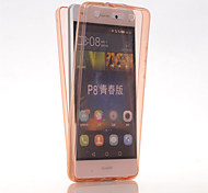 TPU Full body Protective Clear Cover Case for Huawei Ascend P8 Lite