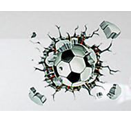 3D Наклейки Простые наклейки Декоративные наклейки на стены,PVC материал Съемная / Положение регулируется Украшение дома Наклейка на стену