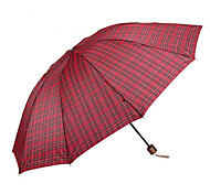 Super 10 Classic Triple Shot Down Bone Sunny Umbrella Men'S Business Oversized Plaid Umbrella Under Subsection