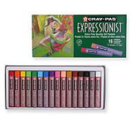 crayon Caneta Giz de Cera Caneta,Plástico Barril Vermelho Preto Azul Amarelo Púrpura Verde cores de tinta For material escolarMaterial de