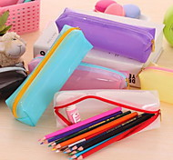 Lovely Contracted And Jelly Glue Stationery Pen Boxes