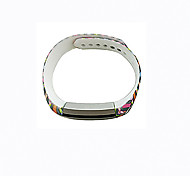 Smart Strap Bracelet Colorful Printing Silicone Bracelet For Fitbit Alta(17)