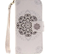 мандолина мандала белый цветок пу кожи для iphone7 6splus 6plus 6с 6 SE 5с 5