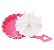 Plastic Heart-shaped Bakeware Jelly Pudding Cup Melaleuca Sushi Rice Mold Egg Maker Mold Kitchen Tools(Random Color)