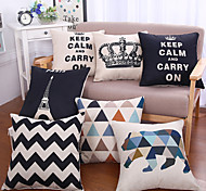 1 PC Casual Style Cotton/Linen Pillow with Insert 17 by 17 inch
