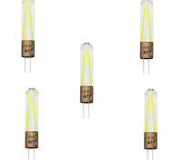 5pcs g4 2W cob gloeidraad led licht lampada LED-spot kroonluchter vervangt gloeilamp (AC220-240V)