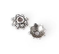 36pcs beadia plata antigua granos de la aleación del casquillo de 7x3mm forma de la flor granos del espaciador