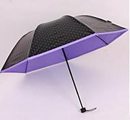Umbrella Folding Wave Point Outdoor Sun Umbrella Advertising Umbrella Custom Vinyl Folded Black Umbrella