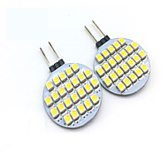 3W G4 LED Doppel-Pin Leuchten T 24 SMD 3528 200 lm Warmes Weiß / Kühles Weiß Dekorativ DC 12 V 2 Stück