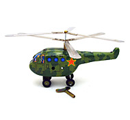 The Helicopter Wind-up Toy Leisure Hobby  Metal Green For Kids