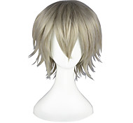 Косплэй парики Final Fantasy Hope Estheim серый Короткие платья / Прямой силуэт Аниме Косплэй парики 35 CM Термостойкое волокноМужской /