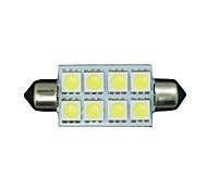 "4 x 42 mm weiß 5050 8SMD Girlande 1.7 ""Kuppel Karte Innenraum LED-Glühbirne 211-2 578"