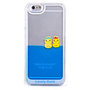 Fluid Liquid Flowing Yellow Duck Crystal Clear Plastic Hard Case Cover for iPhone 7 7 Plus 6s 6 Plus