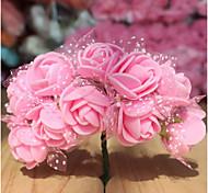 144 Diy Tape Yarn With Yarn Pe Pe Foam Rose Flower Bride Headdress Flower Wreath Candy