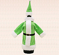 1pc Green Santa Suit Clothing Hat Wine Bottle Bag Cover Christmas Table Dinner Party Decoration