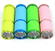 LED Flashlight Mini Aluminum Glow Flashlight White Household Lighting (Batteries not Included)