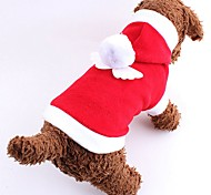 Cat / Dog Costume / Hoodie Red / Pink Dog Clothes Winter Solid Cute / Cosplay / Christmas / New Year's