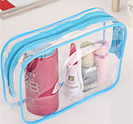Large Capacity Transparent Travel Toiletries Bag Cosmetic Bag Korea Pvc Transparent Waterproof Ladies Cosmetic Bag