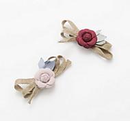 Women's Flower Girl's Fabric Flower Bow  Hair Clip